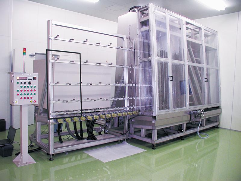 竪型硝子洗浄乾燥装置