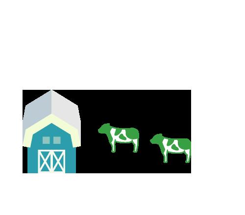 家畜の飼料を作る工程での搬送から牧場等で使用する化学薬品・農薬の製造工程でNCECの技術が活かされています